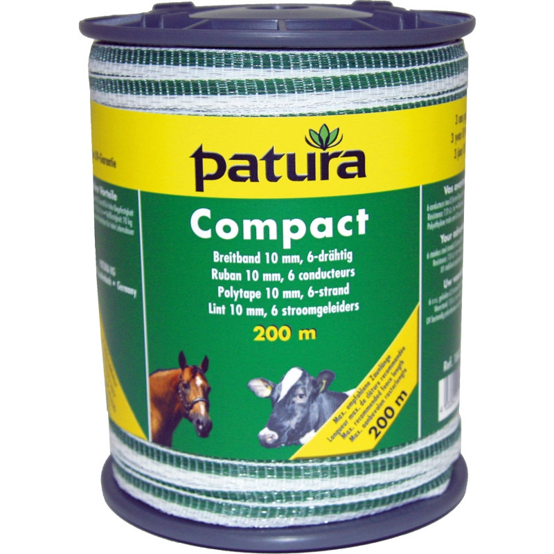 Patura compact lint 10mm wit groen 200m of 400m