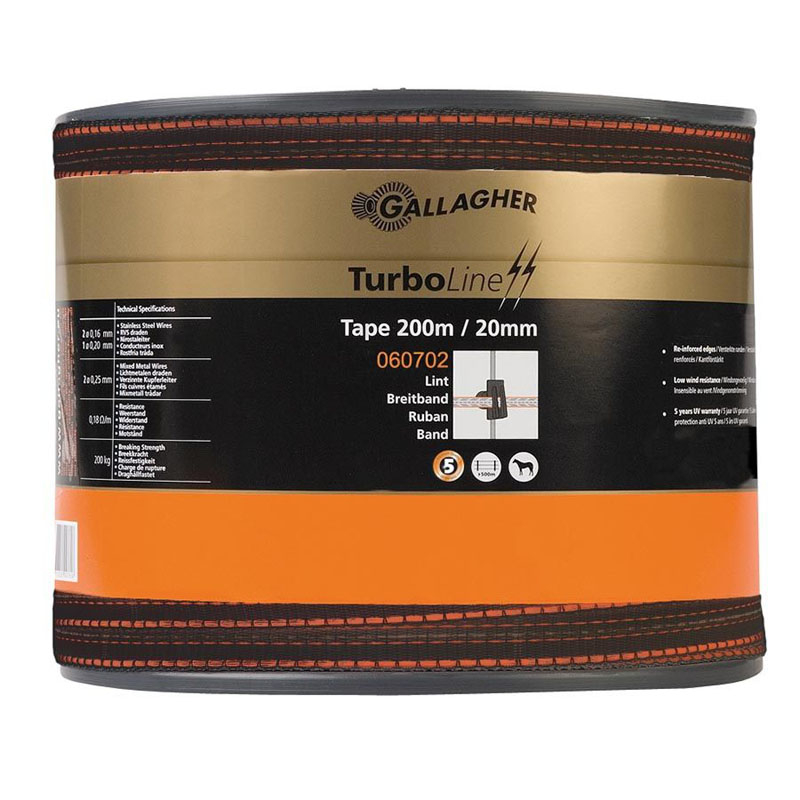 Gallagher TurboLine lint 20mm bruin 200m